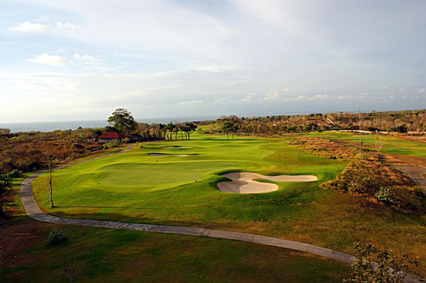 18th hole at sunset, New Kuta Golf Course