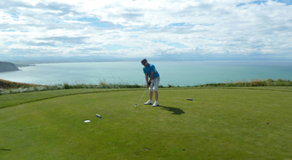 Playing Cape Kidnappers